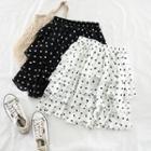 Dotted Chiffon Layered Skirt
