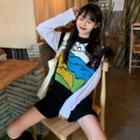 Printed Knit Vest / Shorts