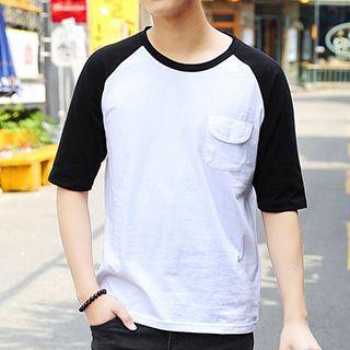 Raglan Elbow-sleeve T-shirt
