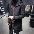 Lettering Hooded Padded Zip Coat
