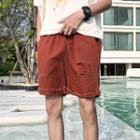 Distressed Cuffed Shorts