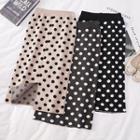 High-waist Slit-back Midi Skirt