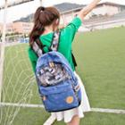 Star Print Pattern Canvas Backpack