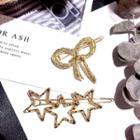 Rhinestone Bow / Star Hair Clip