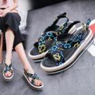 Print Platform Sandals