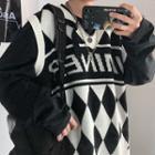 Printed Oversize Knit Vest