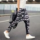 Patterned Drop Crotch Pants
