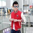 Stand-collar Baseball Jacket