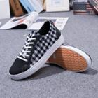 Plaid Canvas Lace-up Sneakers