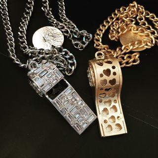 Rhinestone Whistle Necklace