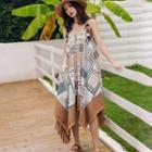 Sleeveless Ethnic Printed Dress