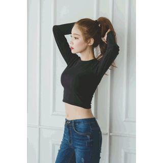 Round-neck Cropped Top