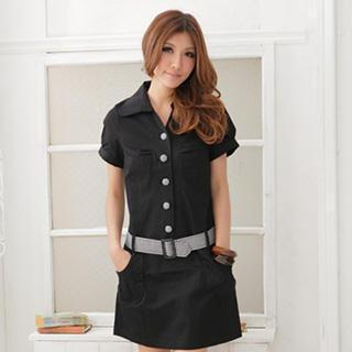 Shirtdress With Belt