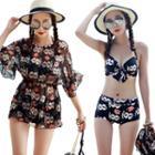 Set: Floral Bikini + Swimdress
