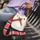 Set: Color Panel Bucket Bag + Crossbody Bag