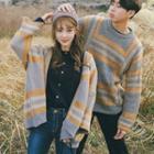 Couple Matching Color Block Sweater / Color Block Cardigan