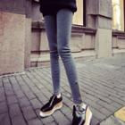 Zip Fleece-lined Skinny Pants