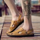 Cut Out Genuine Leather Sandals