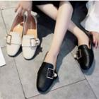 Faux Pearl Buckled Loafers