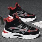 Platform Paneled High-top Sneakers