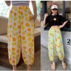 Lemon Print Harem Pants