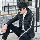 Piped Padded Hooded Jacket