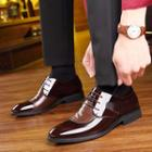 Genuine Leather Pointy Toe Oxfords