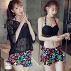 Set: Crochet Top / Bikini Top + Swim Skirt