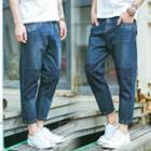 Washed Panel Jeans
