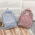 Plaid Canvas Backpack / Striped Canvas Backpack