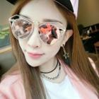 Cutout Frame Polygon Sunglasses
