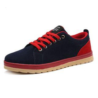 Contrast Trim Lace-up Sneakers