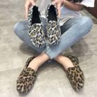 Beaded Leopard Print Loafers
