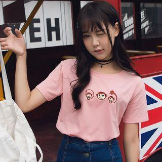 Monkey Embroidery Top