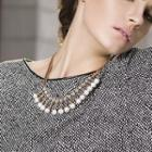 Rhinestone Faux-pearl Necklace