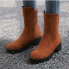 Plain Mid Calf Boots