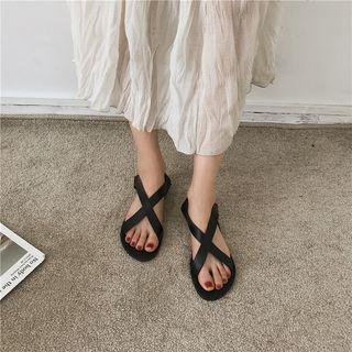 Bow Cross Strap Sandals