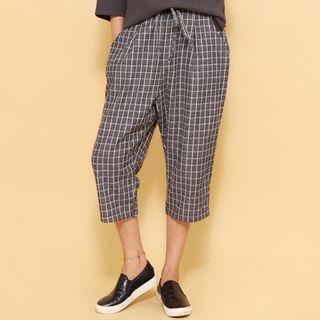 Cropped Baggy-fit Pants