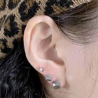 Stainless Steel Cube Earring