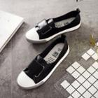 Faux-leather Adhesive Strap Sneakers