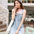Denim Mini Jumper Dress