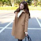 Plain Stand Collar Coat