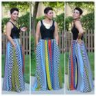 Patterned Panel Sleeveless Dress