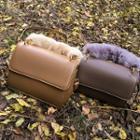 Faux Fur Handle Crossbody Bag
