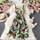 Floral Print Sleeveless Tiered Mini Dress