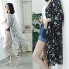Long Floral Robe Cardigan