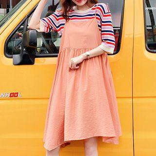Spaghetti Strap Midi Dress Tangerine - One Size