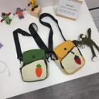 Fruit Applique Canvas Crossbody Bag