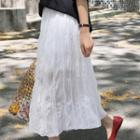 Accordion Chiffon Maxi Skirt