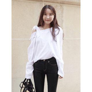 Tie-shoulder Cotton Top